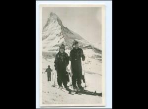 S2584/ Prinzessin Beatrix und Irene am Matterhorn Skilaufen Foto AK Niederlande