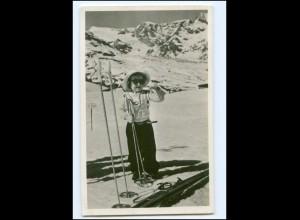 S2586/ Prinzessin Margriet von Niedrlande in Zermatt 1948 Skilaufen Foto AK