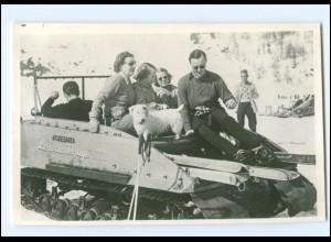S2587/ Königsfamilie von Niederlande in Val D`Isere Foto AK 1950 Train-Rouge