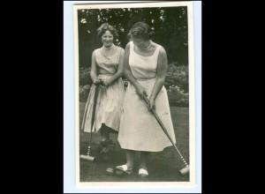 S2593/ Prinzessin Beatrix + Irene spielen Boccia Foto AK ca.1955