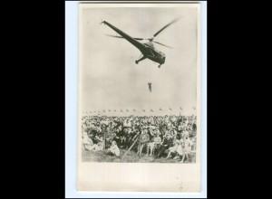 S2597/ Königsfamilie von Niederlande in Soesterberg 1948 Hubschrauber Foto AK