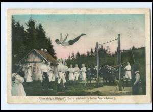 Y18785/ Turnen Riesenfelge Ristgriff AK 1916