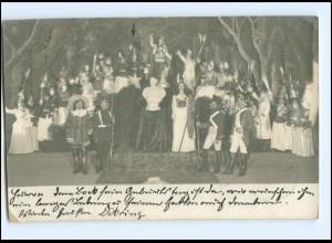 Y19020/ Theateraufführung Fotograf K. Visbeck, Stettin Stempel: Stettin 1902 AK