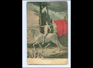 V1652/ Politik - Befreier Sozialismus Pferd AK ca.1900