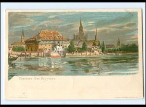 Y18813/ Konstanz Das Kaufhaus C. Biese Litho Ak ca.1900