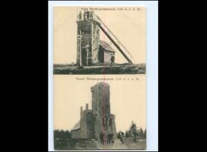 Y18819/ Alter und neuer Hornisgrindeturm bei Sasbach Ak ca.1910