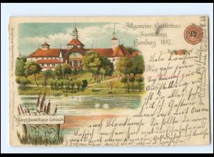 Y18998/ Hamburg Gartenbau-Ausstellung 1897 Litho Ak