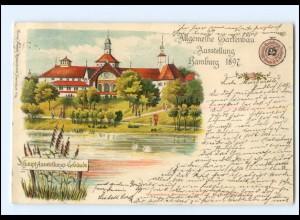 Y18999/ Hamburg Gartenbau-Ausstellung 1897 Litho Ak