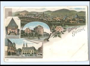 Y18818/ Gruß aus Goslar Litho AK ca.1898