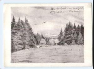 V1645/ Brockenblick vom Spielplatz der Gauschule in Oderbrück b. Braunlage AK