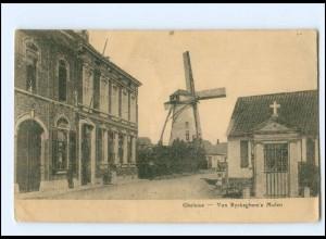 XX13237/ Gheluwe Van Ryckeghem`s Mole Windmühle Belgien AK 1915