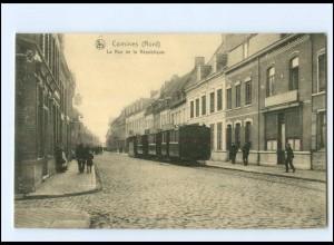 XX13692/ Comines (Nord) Tram Straßenbahn AK ca.1915 Frankreich