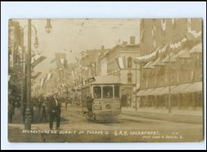 XX13117/ St. Toledo Ohio Decoration on Sunnit Tramway Straßenbahn Foto AK 1908