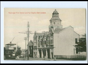 XX13691/ London Municipal Fire Stationt East London Tram Straßenbahn AK ca.1910