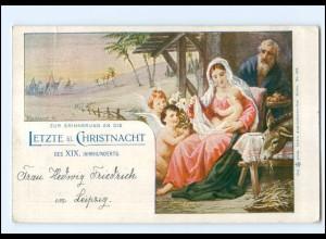 XX13464/ Jerusalem Österreichische Post 1899 AK Letzte Christnacht