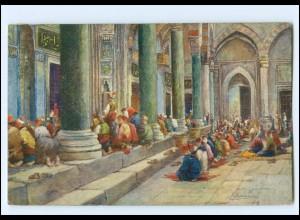 XX13127/Constantinople Moslems beten Türkei Stempel Constantinopel Deutsche Post