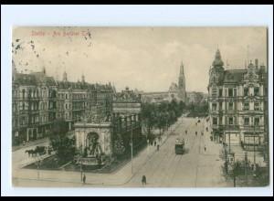 XX13410/ Stettin Am Berliner Tor, Straßenbahn AK 1912 Pommern