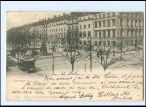 XX13305/ Hamburg Esplanade Straßenbahn AK 1898