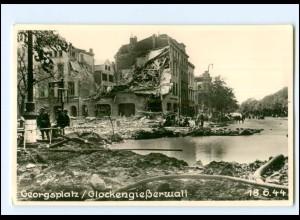 XX13980/ Hamburg St. Georg Georgsplatz 18.6.1944 Foto AK gedruckt später