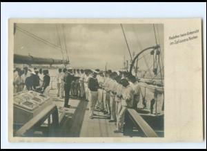XX13400/ Marineleben Foto AK Adolph Engel, 1905 Kadetten beim Unterricht