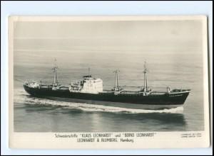 XX13156/ Frachter Handelsschiff Klaus Leonhardt Foto AK 50/60er Jahre