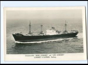 XX13157/ Frachter Handelsschiff Luise Leonhardt Foto AK 50/60er Jahre