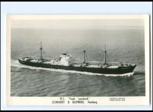 XX13160/ Frachter Handelsschiff Frank Leonhardt Foto AK 50/60er Jahre