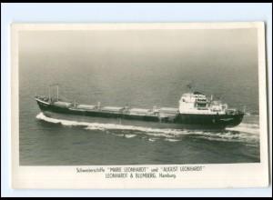 XX13158/ Frachter Handelsschiff August Leonhardt Foto AK 50/60er Jahre