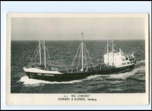 XX13159/ Frachter Handelsschiff Inge Leonhardt Foto AK 50/60er Jahre