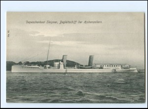 XX13396/ Depeschenboot Sleipner Begleitschiff der Hohenzollern AK Marine