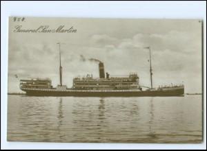 XX13140/ Dampfer Handelsschiff General San Martin Foto AK ca.1925