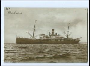XX13136/ Dampfer Ussukuma Foto AK ca.1925