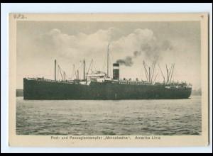 XX13144/ Dampfer Minnekadha Amerika-Linie AK ca.1925