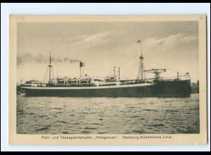 XX13146/ Dampfer Villagarcia Hamburg-Süd AK ca.1920