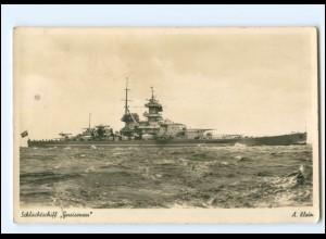 XX13393/ Schlachtschiff Gneisenau Foto AK ca.1938