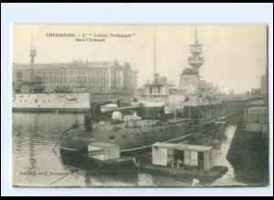 XX13235/ Cherbourg - L Amiral Trehouard Kriegsschiff Frankreich AK 1916