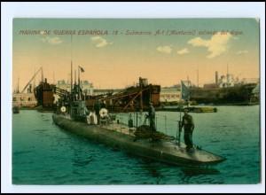 XX13163/ Marina de Guerra Espanola Submarino A-1 U-Boot Spanien AK