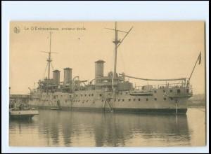 XX13179/ Le D`Entrecasteaux Croiseu-Ecole Ligue Maritime Belge Marine Belgien AK