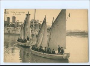 XX13180/ Ecole de canotage à la voile Ligue Maritime Belge Marine Belgien AK