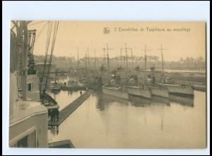 XX13181/ Escadilles de Torpilleurs Ligue Maritime Belge Marine Belgien AK