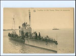 XX13183/ Torpilleur A47 Ligue Maritime Belge Marine Belgien AK