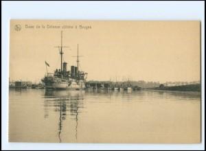 XX13184/ Base de la Defense Bruges Ligue Maritime Belge Marine Belgien AK