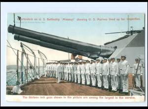 XX13402/ U.S. Battleship Missouri U.S. Marine Kriegsschiff USA AK ca.1910