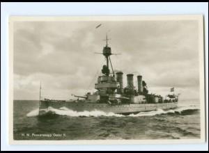 XX13380/ Pansarskeppet Oscar II Marine Kriegsschiff Schweden Foto AK ca.1940