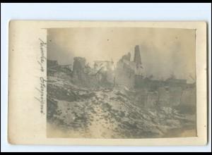 XX14685/ Eterpigny Kirche zerstört Frankreich Foto AK 1. Weltkrieg 1917