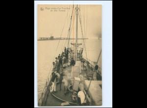 XX13359/ Ligue Maritime Belge Belgien - Torpilleur AK ca.1915