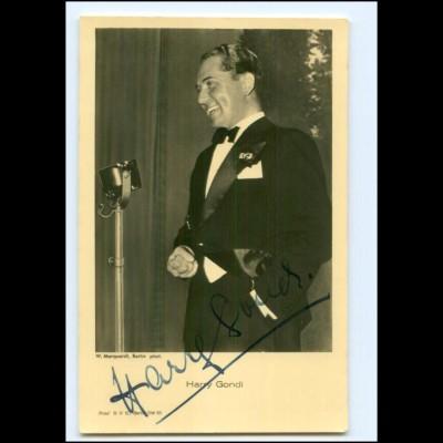 XX13429/ Harry Gondi Autogramm Rückseite Widmung schöne Ross Foto AK 1939