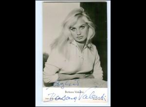 XX13437/ Barbara Valentin Original Autogramm Rüdel Foto AK 60er Jahre