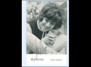 XX13438/ Peggy March Original Autogramm RCA Victor Karte