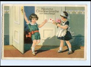 XX13473/ Geburstag Kinder schöne Litho AK 1931